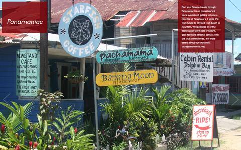 Screenshot of Home Page panamaniac.net - Welcome to Panamaniac - captured Sept. 27, 2014