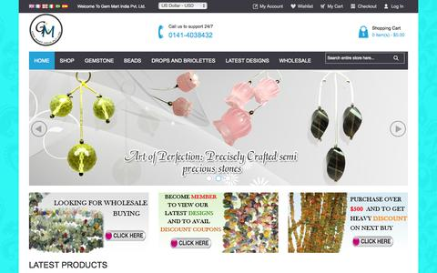 Screenshot of Home Page gembeads.in - Home page - captured June 18, 2015