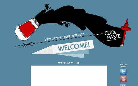 Screenshot of Home Page cutandpastedvd.com - Cut & Paste DVD - captured Oct. 3, 2014