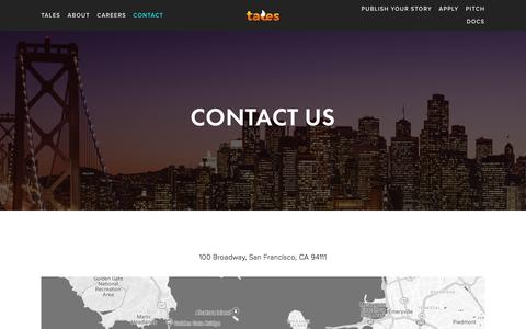 Screenshot of Contact Page fablelabs.com - Contact — FableLabs - captured Aug. 12, 2018