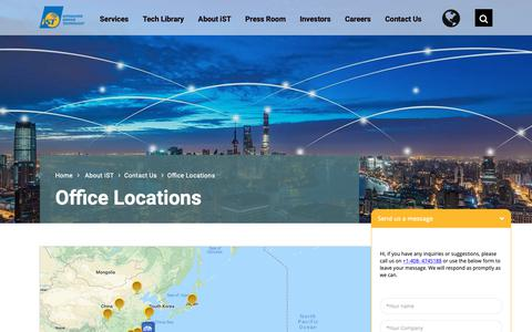 Screenshot of Locations Page istgroup.com - Office Locations - iST-Integrated Service Technology - Office Locations - captured Oct. 12, 2018