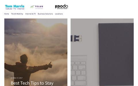 Screenshot of Blog tomharris.com - Blog - captured Oct. 24, 2017