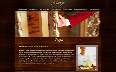 Screenshot of Team Page montagehotels.com - Luxury Beachfront Hotels | Montage Corporate - Service | Luxury Vacation Resorts - captured Sept. 18, 2014