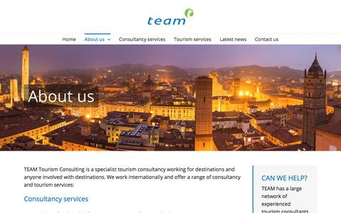 Screenshot of About Page team-tourism.com - About us – TEAM Tourism Consulting - captured Nov. 15, 2017