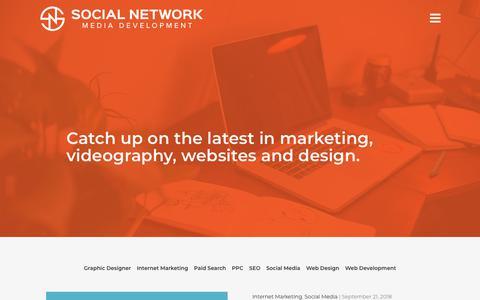 Screenshot of Blog socialnetworkmd.com - Blog - Social Network MD - captured Sept. 21, 2018