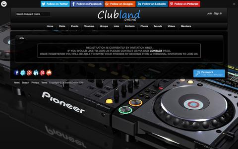 Screenshot of Signup Page clublandonline.com - Join Clubland Online - captured July 18, 2018