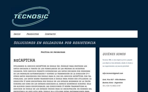 Screenshot of Privacy Page jimdo.com - Política de privacidad - Página web de tecnosic - captured Oct. 24, 2017