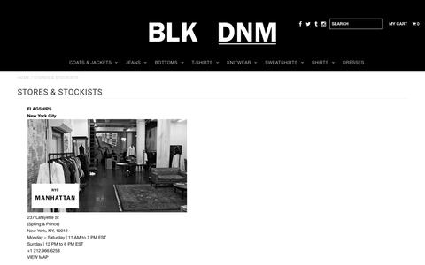 STORES & STOCKISTS       – BLK DNM