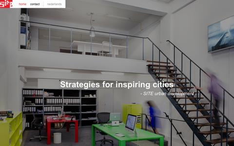 Screenshot of Home Page site-ud.com - SITE uban development - Strategies for inspiring cities - captured Jan. 27, 2015