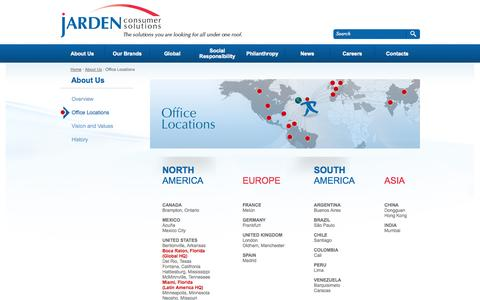 Screenshot of Locations Page jardencs.com - About Us - Locations - captured Sept. 22, 2014