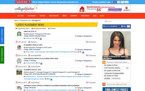 Screenshot of Team Page collegekhabar.com - College Khabar - Engineering Placement News, Student College Reviews, Company Reviews, College Events,Placement Papers, Student Interviews - captured Sept. 19, 2014
