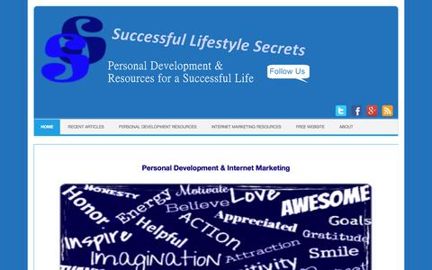 Screenshot of Home Page successful-lifestyle-secrets.ca - Successful Lifestyle Secrets | Personal Development Resources for a successful life - captured June 15, 2016