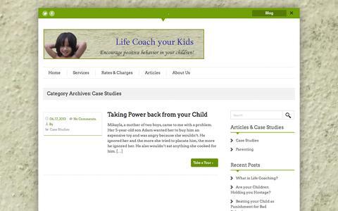 Screenshot of Case Studies Page lifecoachyourkids.my - Case Studies | Life Coach your Kids - captured Sept. 26, 2014