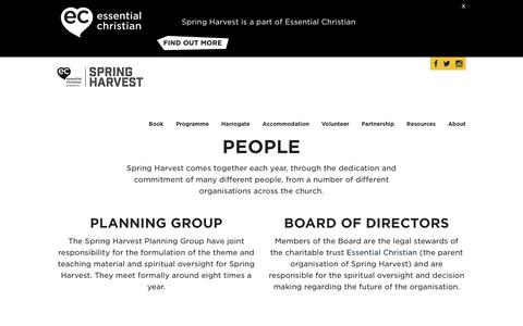 Screenshot of Team Page springharvest.org - People Spring HarvestSpring Harvest - captured Sept. 21, 2018
