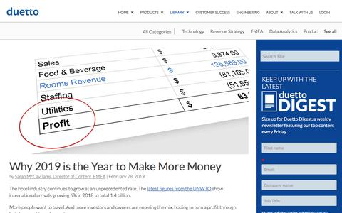 Screenshot of Case Studies Page duettocloud.com - Why 2019 is the Year to Make More Money - captured Jan. 6, 2020