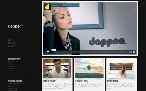 Screenshot of Home Page dappermedia.net captured Oct. 5, 2014