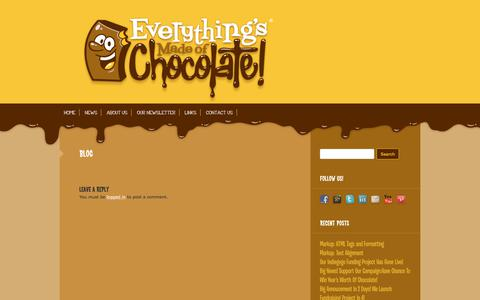 Screenshot of Blog everythingsmadeofchocolate.com - Blog   Everythings Made of Chocolate - captured July 22, 2018