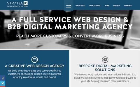 Screenshot of Home Page strategic-ic.co.uk - B2B Digital Marketing Agency | London | Sussex | Strategic IC - captured Oct. 7, 2014