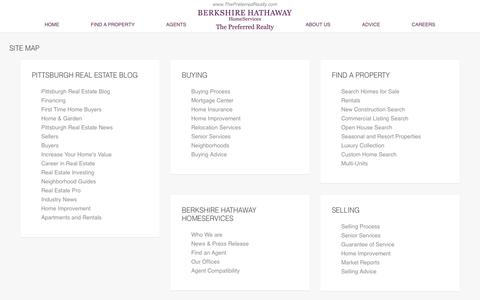Screenshot of Site Map Page thepreferredrealty.com - Site Map | Berkshire Hathaway HomeServices The Preferred Realty - captured Jan. 21, 2016