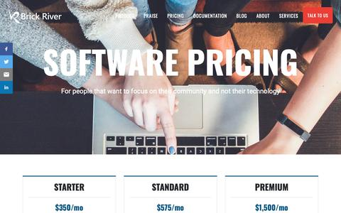 Screenshot of Pricing Page brickriver.com - Pricing - Brick River - captured Oct. 6, 2018