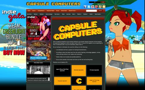 Screenshot of Jobs Page capsulecomputers.com.au - Careers | Capsule Computers - Gaming & Entertainment News, Reviews, Interviews & Competitions - captured Sept. 23, 2014