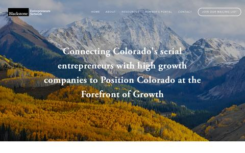 Screenshot of Home Page bencolorado.org - Blackstone Entrepreneurs Network - captured Sept. 13, 2015