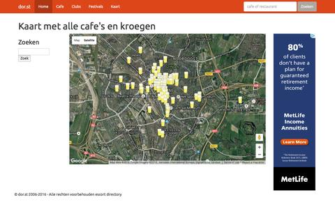 Screenshot of Maps & Directions Page dor.st - Kaart met alle cafe's en kroegen in Utrecht - captured Dec. 3, 2016