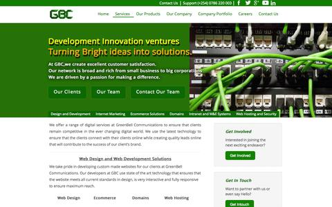 Screenshot of Services Page gbc.co.ke - Services - GreenBell Communications Limited | Enhancing Business through ICT Web solutions - captured Oct. 3, 2014