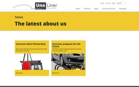Screenshot of Press Page unoliner.com captured Nov. 29, 2016