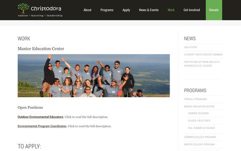 Screenshot of Jobs Page christodora.org - ChristodoraWork   Christodora - captured Oct. 28, 2014