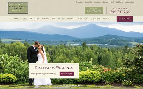 Screenshot of Home Page mountainviewgrand.com - Mountain View Grand Resort - White Mountain NH Hotels - captured Nov. 16, 2017
