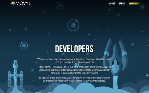 Screenshot of Developers Page movyl.co - Developers — Movyl - captured Dec. 1, 2016