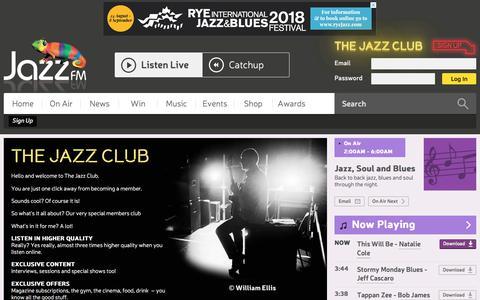 Screenshot of Signup Page jazzfm.com - Sign Up - Jazz FM - captured July 27, 2018