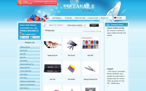Screenshot of Products Page eeesanail.com - nail brush China factory, kolinsky sable nail brush, nail art, nail beauty supplier,gel polish-Shenzhen Eeesa Nails Beauty Commodity Co., Ltd. - captured Oct. 2, 2014