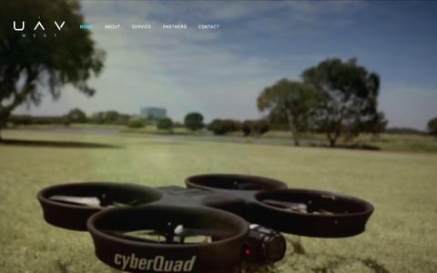 Screenshot of Home Page uavwest.com.au - UAV West - captured Dec. 15, 2015