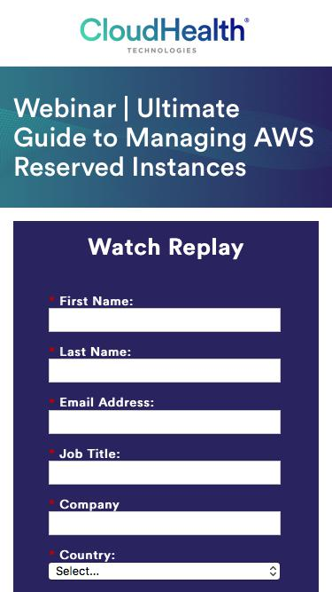 Webinar | Ultimate Guide to Managing AWS Reserved Instances