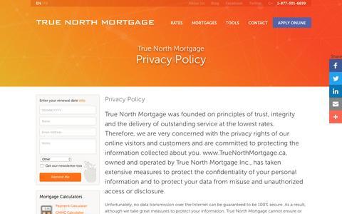 Privacy Policy | True North Mortgage