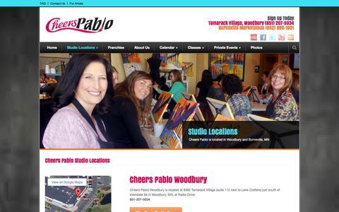 Screenshot of Locations Page cheerspablo.com - Cheers Pablo  Cheers Pablo Studio Locations - Cheers Pablo - captured Sept. 29, 2014