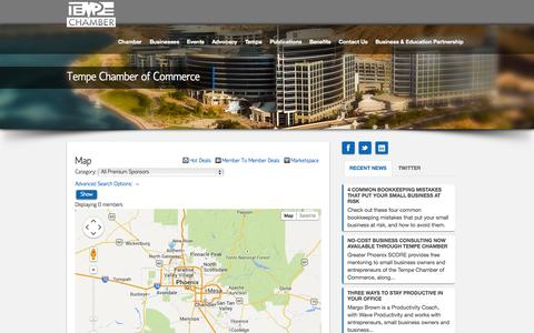 Screenshot of Maps & Directions Page tempechamber.org - Map - Tempe Chamber of Commerce | Tempe Chamber of Commerce - captured Oct. 7, 2014