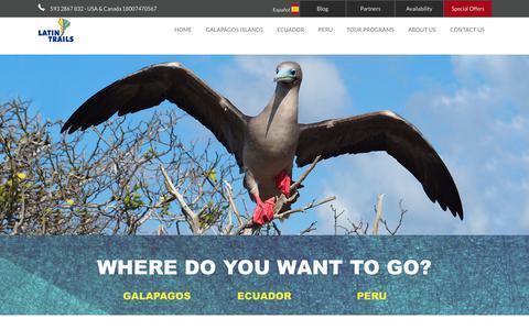 Screenshot of Blog latintrails.com - Blog LatinTrails I The best travel blog I - captured July 16, 2018