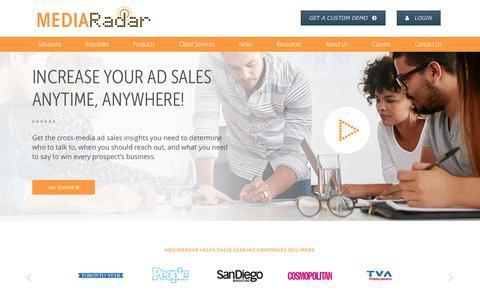Screenshot of Home Page mediaradar.com - Home   MediaRadar - captured Feb. 17, 2017
