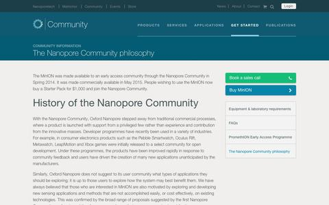The Nanopore Community philosophy