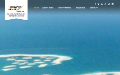 Screenshot of Home Page seawings.ae - Seawings Seaplane - Scenic Tour of Dubai, Abu Dhabi - captured Jan. 16, 2016