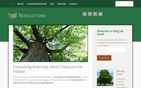 Screenshot of Home Page treeres.com - Tree Resolutions, Tree Experts and Consulting Arborists - captured Nov. 7, 2017