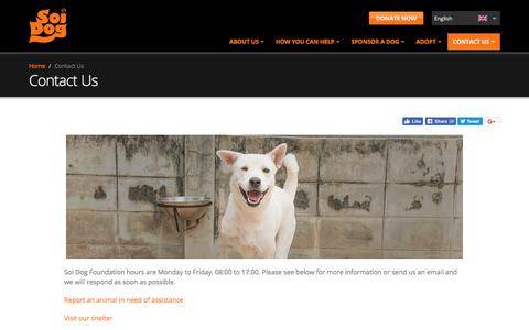 Screenshot of Contact Page soidog.org - Contact Us   Soi Dog Foundation - captured Sept. 30, 2017
