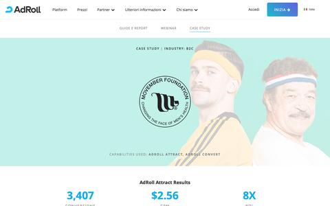 Screenshot of Case Studies Page adroll.com - AdRoll - Movember - Case Study - captured May 15, 2018