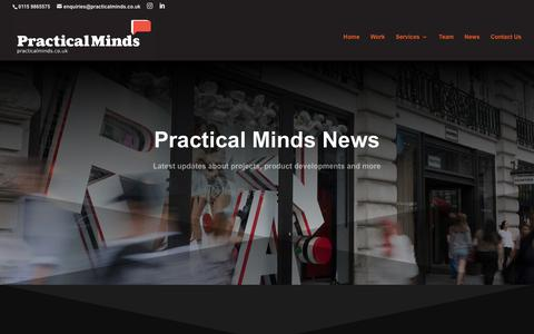 Screenshot of Press Page practicalminds.co.uk - News | PRACTICAL MINDS - captured Sept. 29, 2018