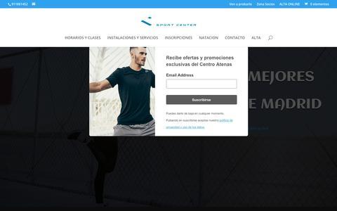 Screenshot of Home Page centroatenas.com - Atenas Sport Center - Gimnasio y Escuela de natación - Atenas Sport Center - captured Nov. 18, 2019