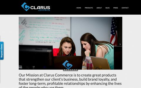 Screenshot of About Page claruscommerce.com - About Us «  Clarus Commerce - captured Jan. 28, 2016
