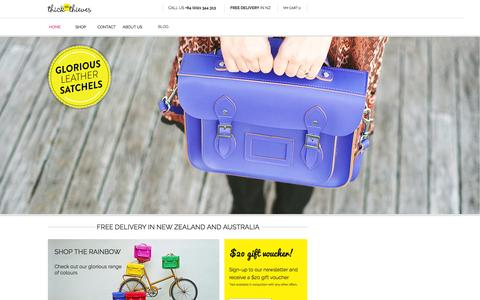Screenshot of Home Page thickasthieves.co.nz - Satchels NZ | Leather Satchel Bags | Handbags - captured Feb. 28, 2016